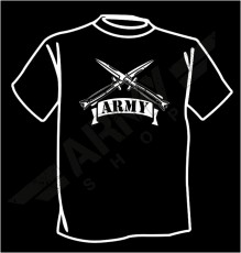 T - shirt  Knife&flag